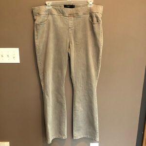 Torrid Khaki Pull On Bootcut Jeans Size 3X